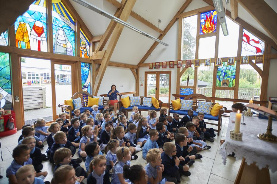 Praying together in our School Chapel