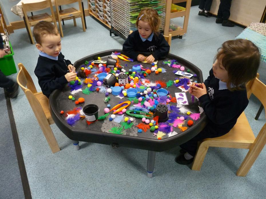 Nursery Children working