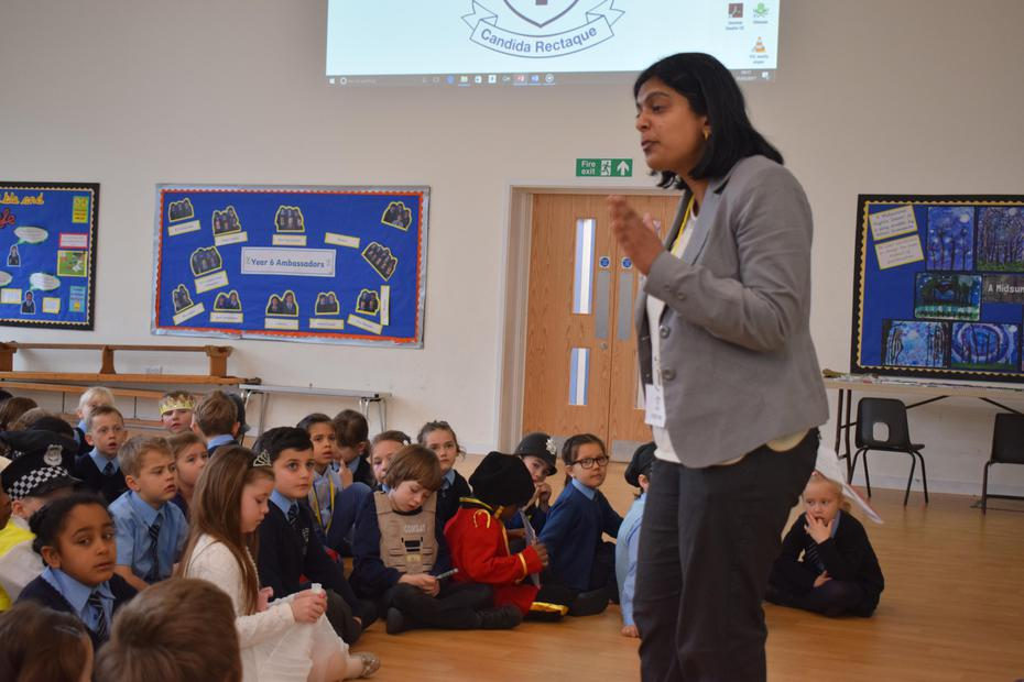 Our local MP, Rupa Huq, visits the school
