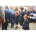 HRH meets Winnie, the school dog!