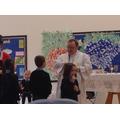 Receiving communion at mass
