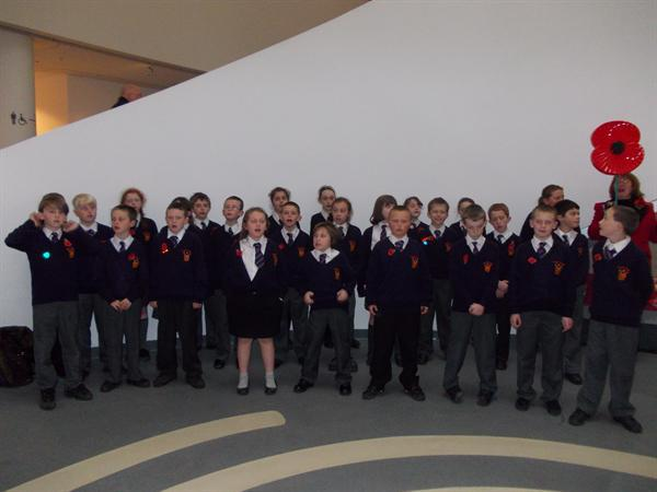 Remembrance day singing -World Museum