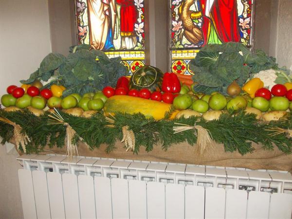 St Mary's Harvest Festival Displays