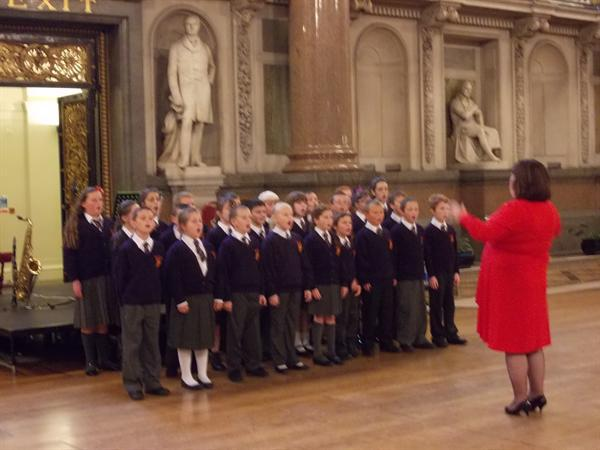 Singing in St Georges Hall
