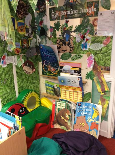 Class 1's engaging reading area.
