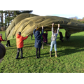 Parachute games in Forest School