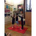 Gymnastic routines in P.E