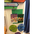 We always have our class books on display.