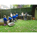 Exploring the mud kitchen
