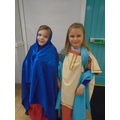 Dressing up as ancient Roman women was great fun.