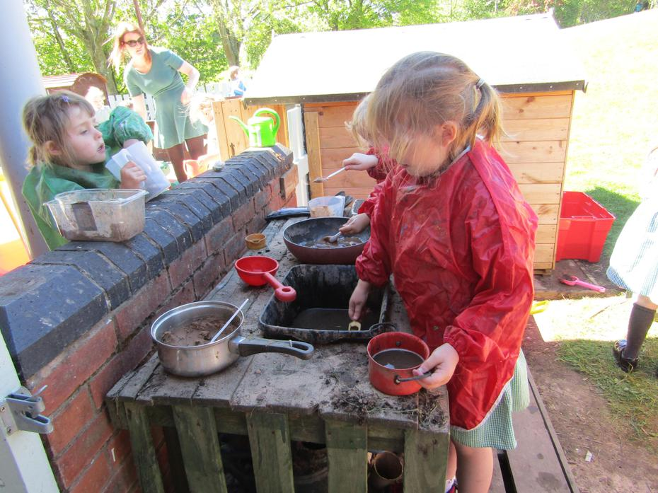 Reception investigating the properties of mud