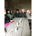 Making clay oil lamps