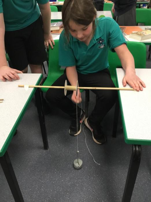 We made our own fixed pulleys.