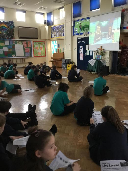 Years 5 and 6 took part in a BBC live lesson.