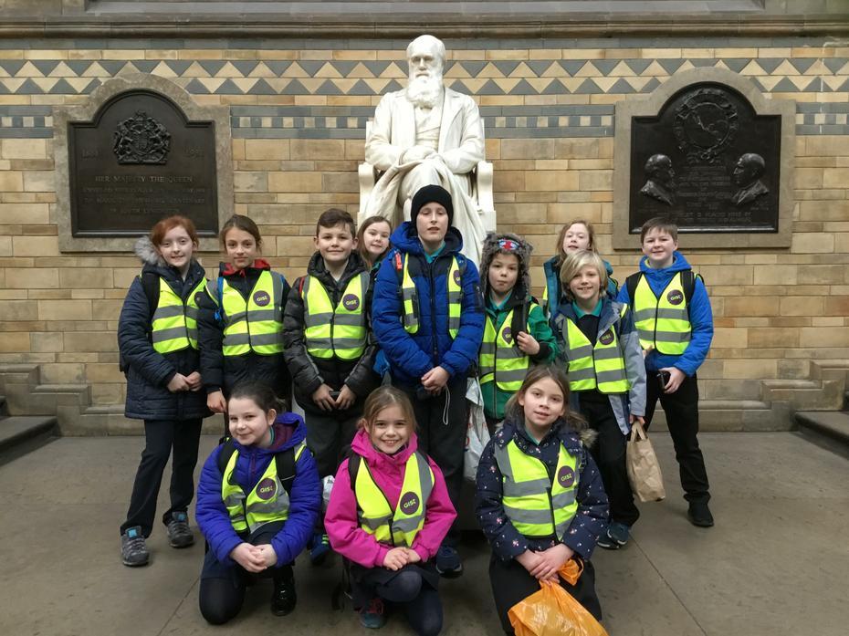Group shot with Charles Darwin