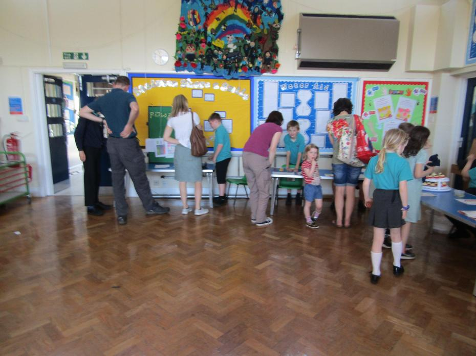 Visitors learning how to 'Change the World'.