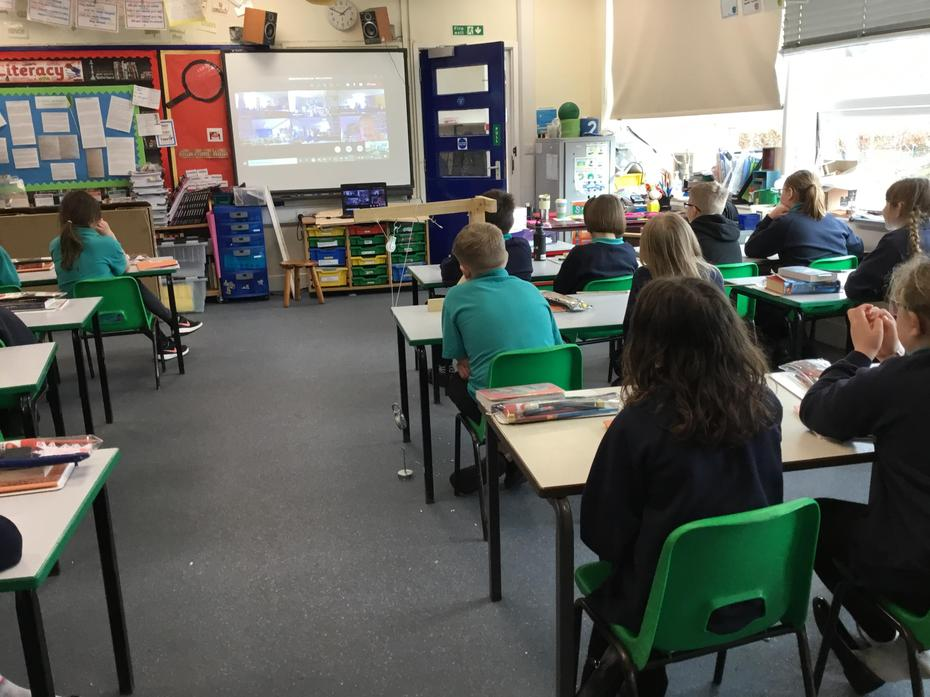 Our online meeting with Lord Winston.