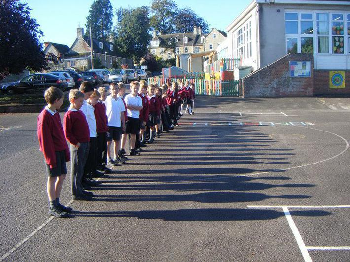 In science we have been learning about shadows