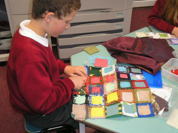 Enough squares for a waistcoat back.