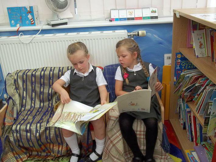 We love sharing a book together