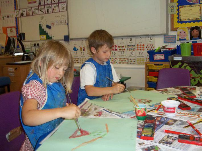 Painting pictures of ourselves.