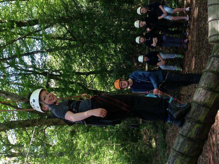 Just a few more photos from the high ropes!