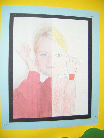 Symmetrical drawings from our funny face photo