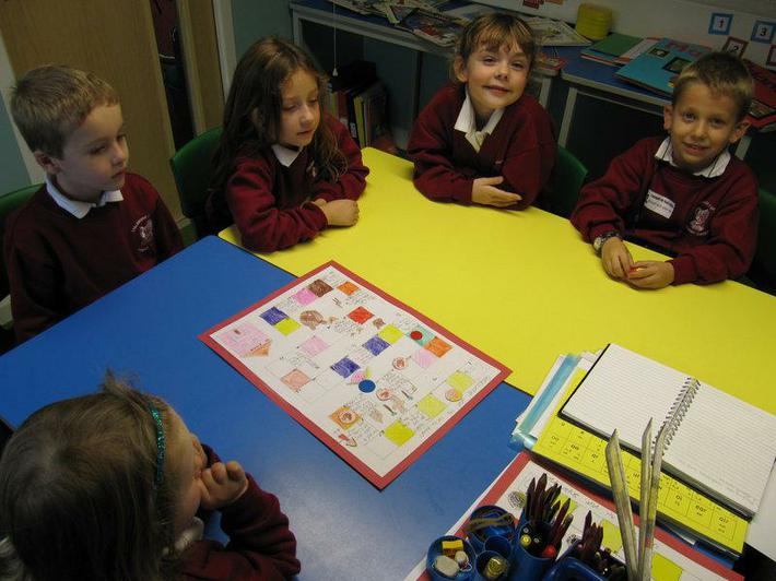We taught the Reception children how to play