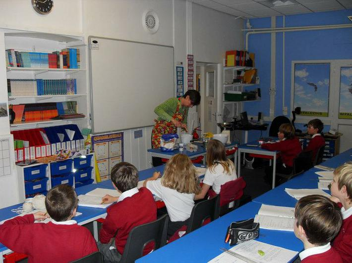 The pupils were transfixed for the 40 minute demo