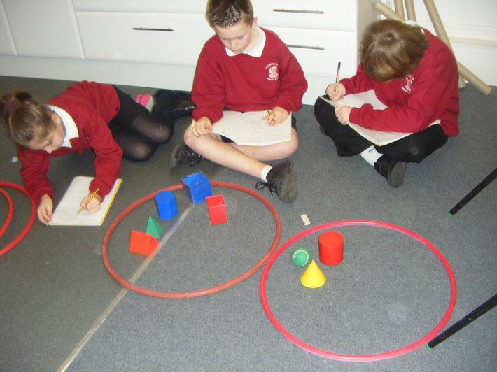 The cubes have been sorting 3D shapes