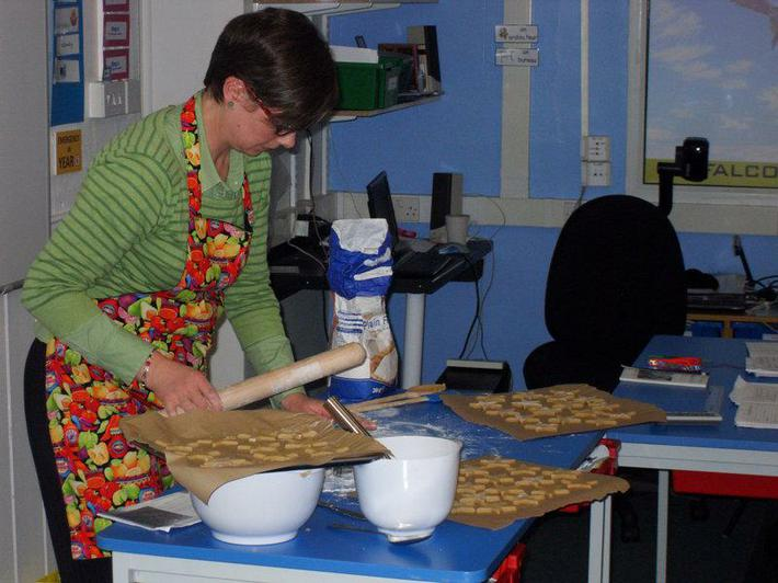 A cooking demonstration by our HLTA Mrs Squires.
