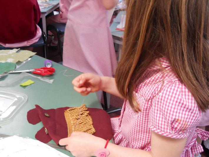 Sewing a fringe