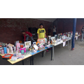 Tombola with generous donations from parents