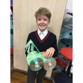 Well done to Lucas who won the recycled award.