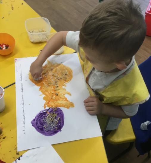 I am exploring texture and colour!