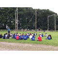 Year 6 admiring the giant swing!