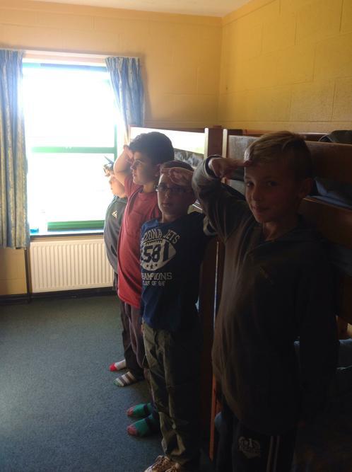 Morning room inspection.....good work boys!