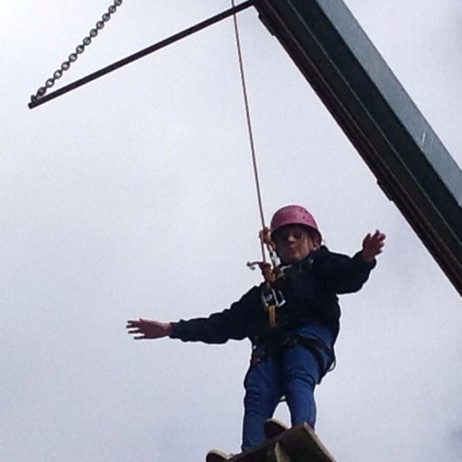 I believe I can fly!! Well done Charlotte!