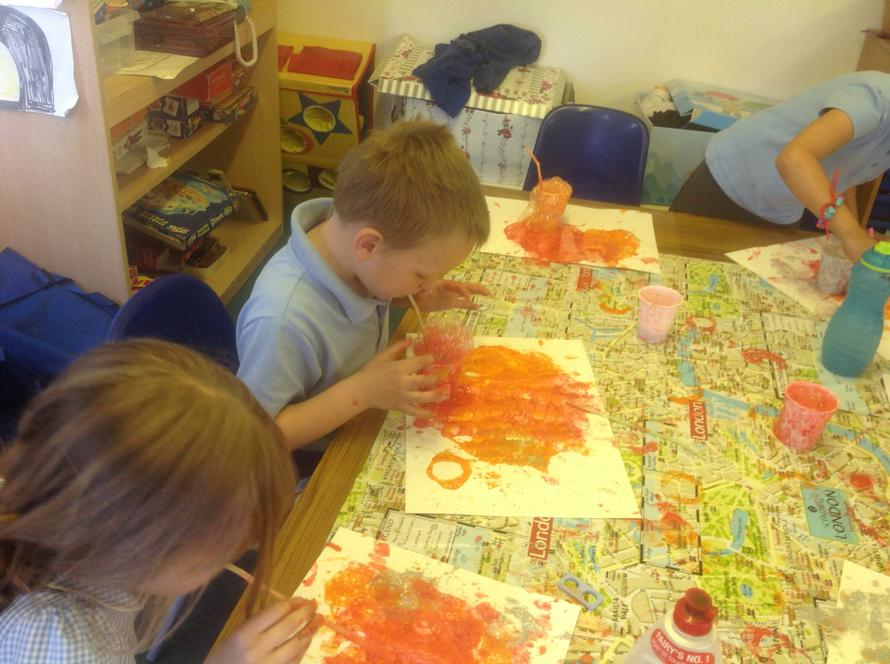 Tom blow painting - Great Fire of London!