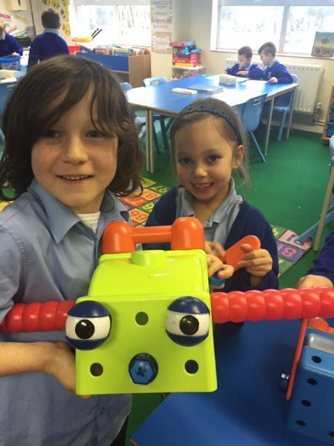 Making a robot head.