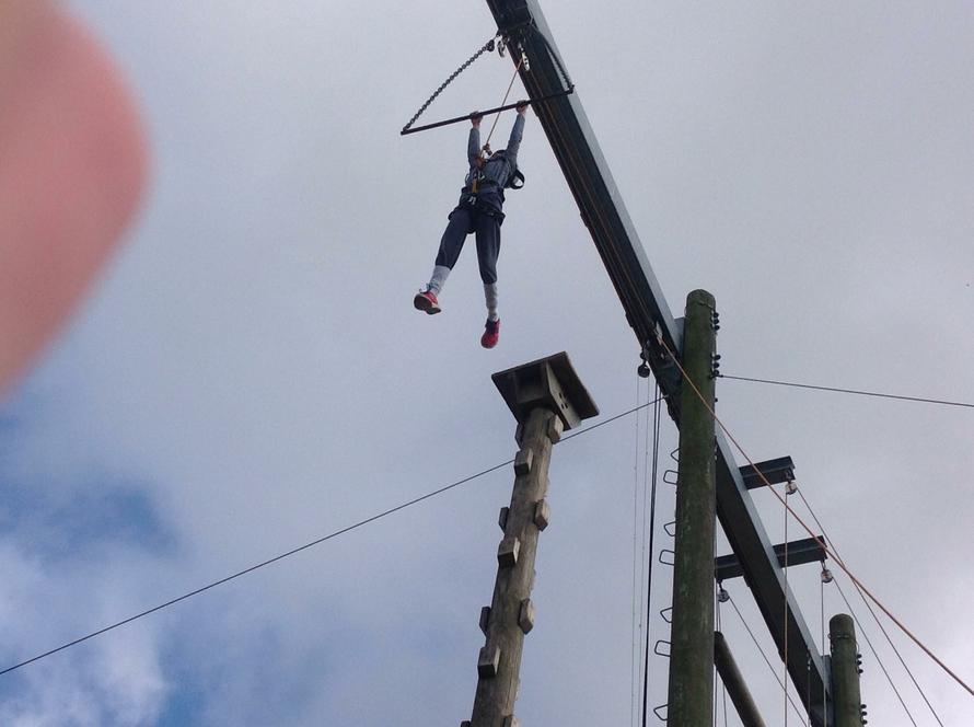 Eleanor swings like a monkey!