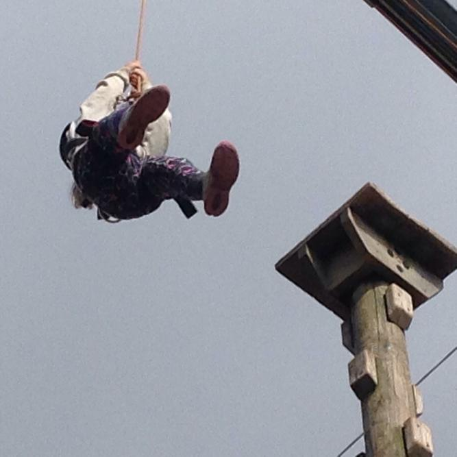 Chloe in the air!