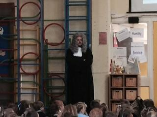 Mr Taylor dressed up as a judge!