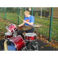 An outdoor session of drums