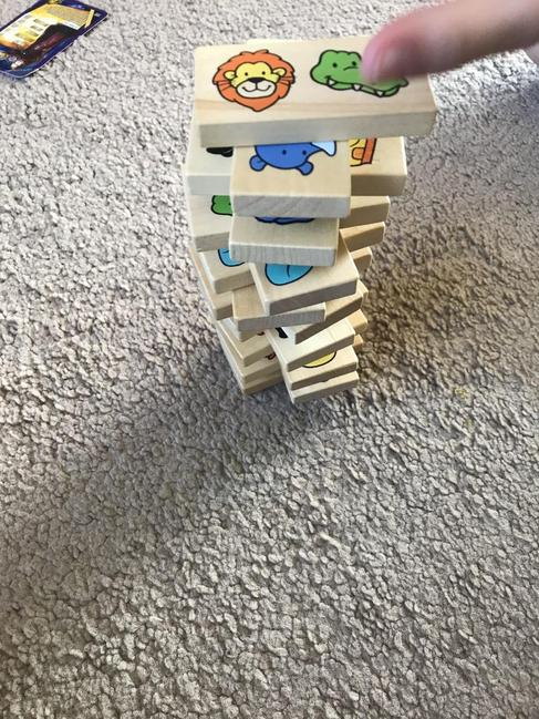 Simplest of games like stacking enables learning
