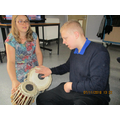 A drum session with Jenny