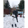 WOW! What a Snowman! Described by the student as 'cold, funny and temporary!'