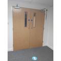Doors in to School Hall