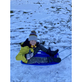 Sledging in the snow