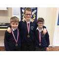 Lucas, Seth and Josh - Year 5 boys 'clean sweep'